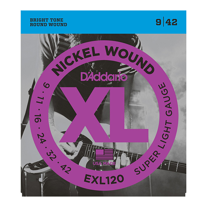 D'Addario <br>EXL120 XL Nickel Round Wound Super Light 09-42