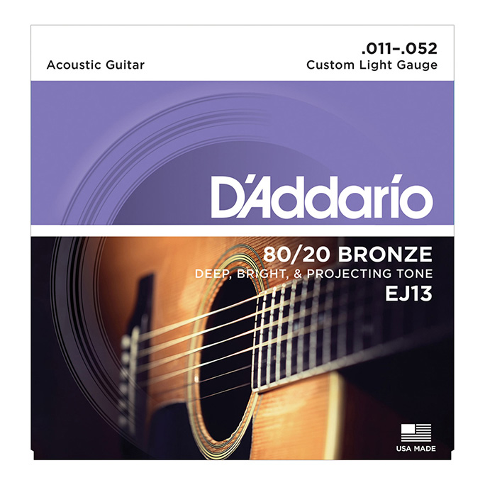 D'Addario <br>EJ13 80/20 Bronze Wound Custom Light 11-52