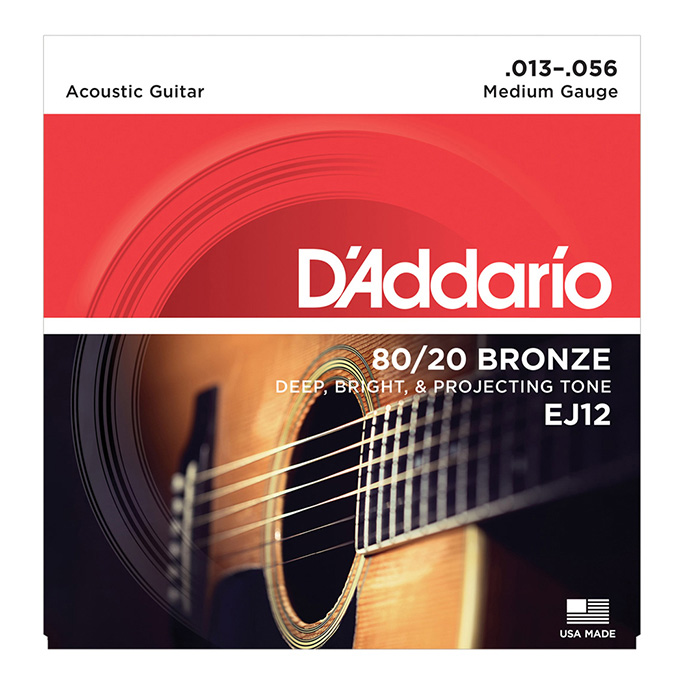 D'Addario <br>EJ12 80/20 Bronze Wound Medium 13-56
