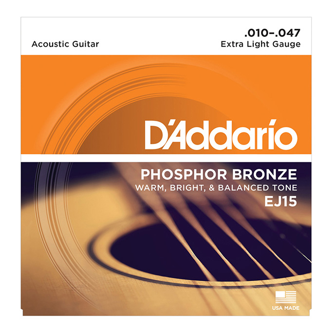 D'Addario <br>EJ15 Phosphor Bronze Wound Extra Light 10-47
