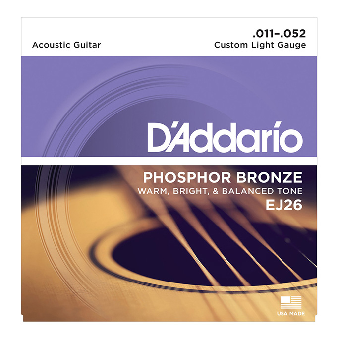 D&apos;Addario <br>EJ26 Phosphor Bronze Wound Custom Light 11-52