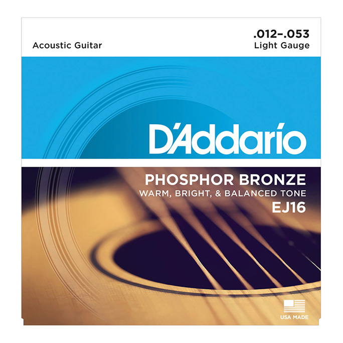 D'Addario <br>EJ16 Phosphor Bronze Wound Light 12-53