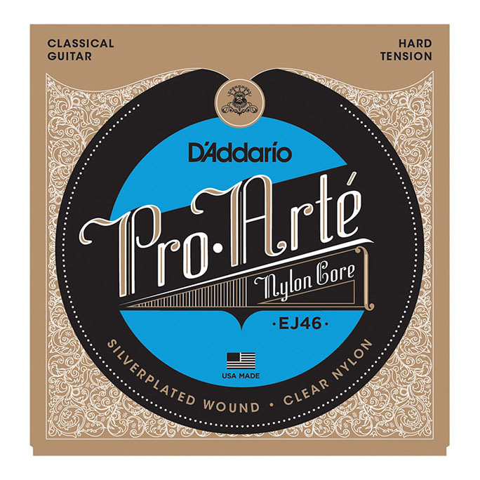 D'Addario <br>EJ46 Pro-Arte Nylon Core Silver / Clear / Hard Tension