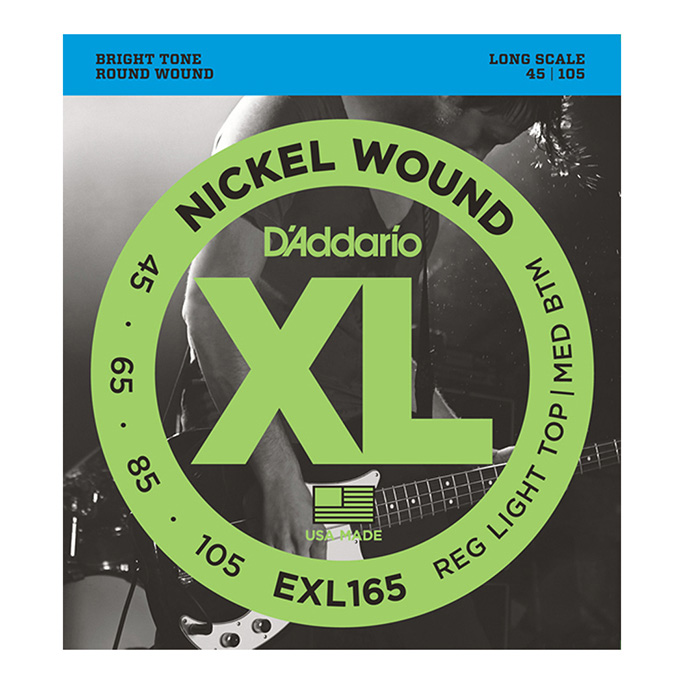 D'Addario <br>EXL165 XL Nickel Round Wound Long Scale 45-105
