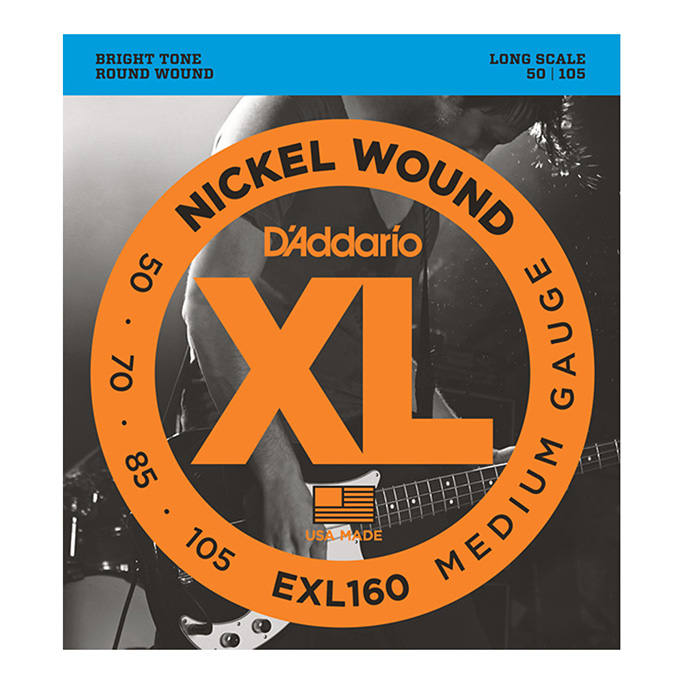 D'Addario <br>EXL160 XL Nickel Round Wound Long Scale 50-105
