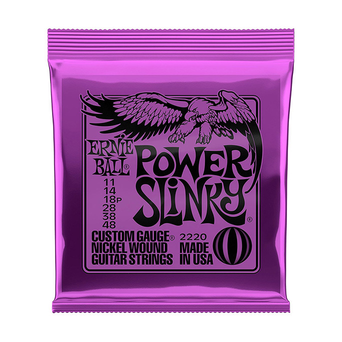ERNIE BALL <br>POWER SLINKY NICKEL WOUND 11-48