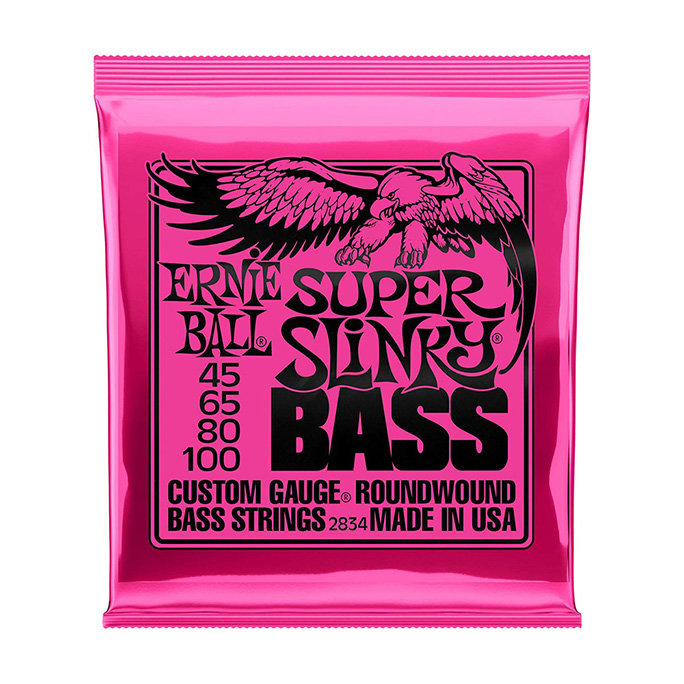 ERNIE BALL <br>SUPER SLINKY NICKEL WOUND 45-100