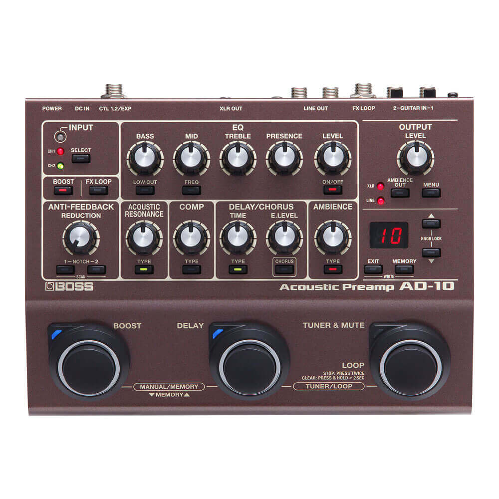 BOSS <br>AD-10 Acoustic Preamp