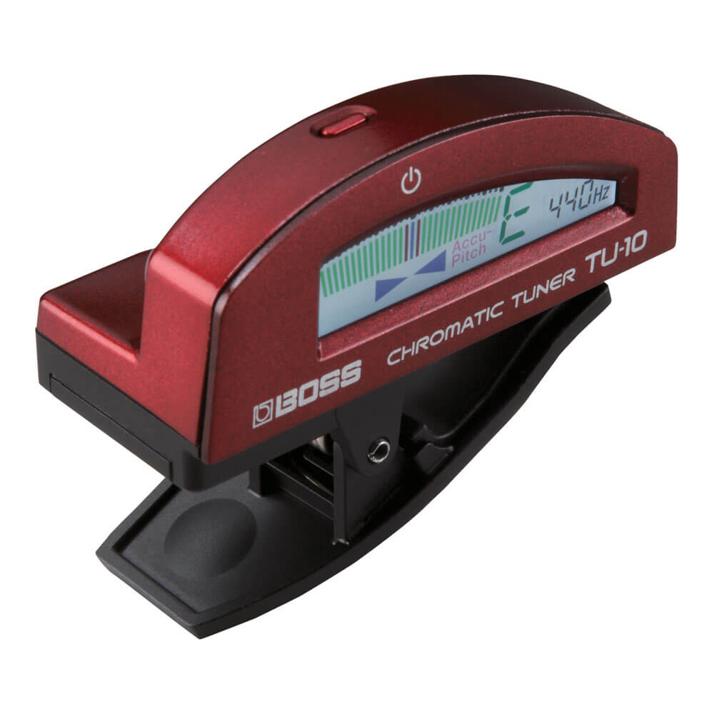 BOSS <br>TU-10-RD Clip-on Chromatic Tuner