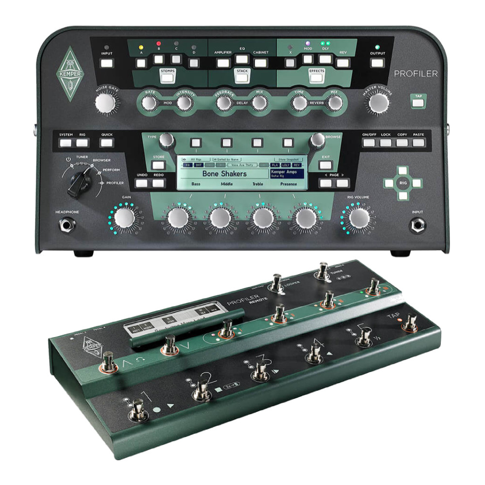 Kemper <br>Profiler Head Black & Remote Set
