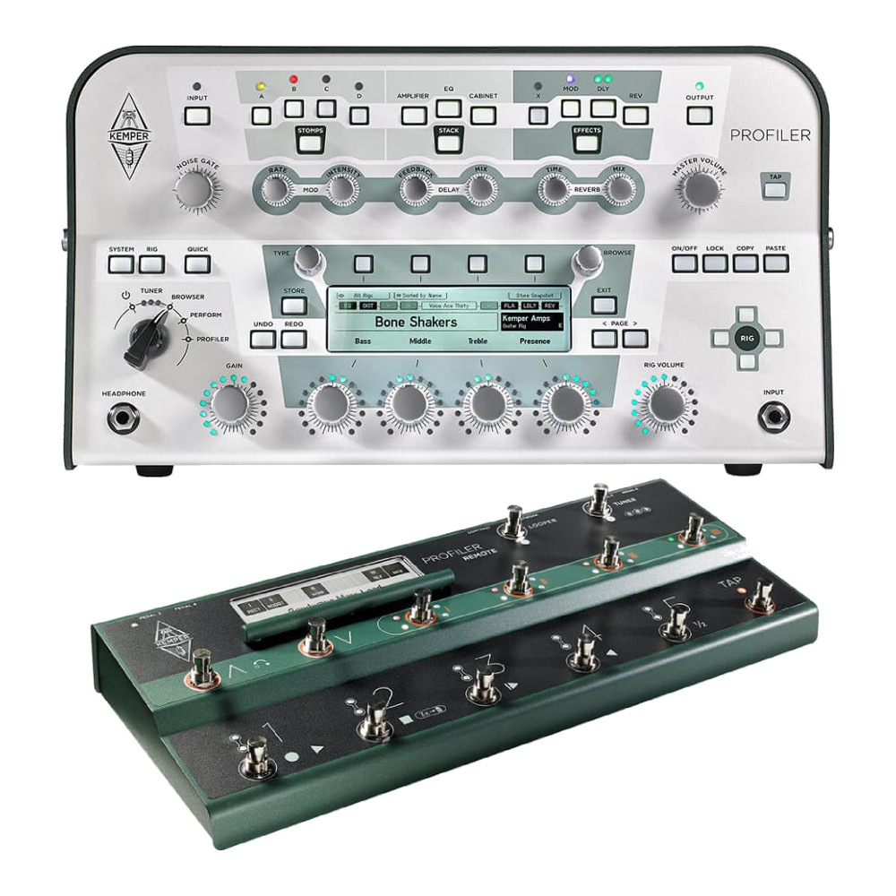 Kemper <br>Profiler Head White & Remote Set