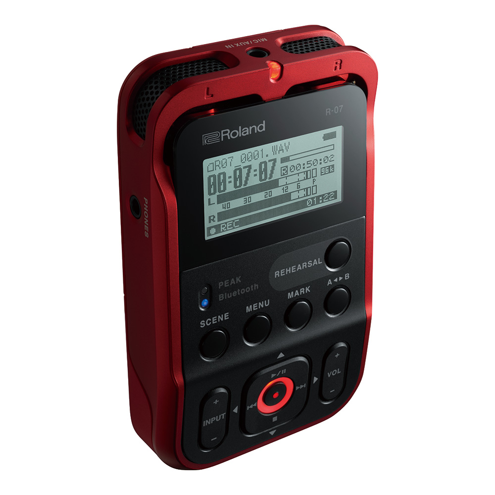 Roland <br>R-07 RED <br>High-Resolution Audio Recorder