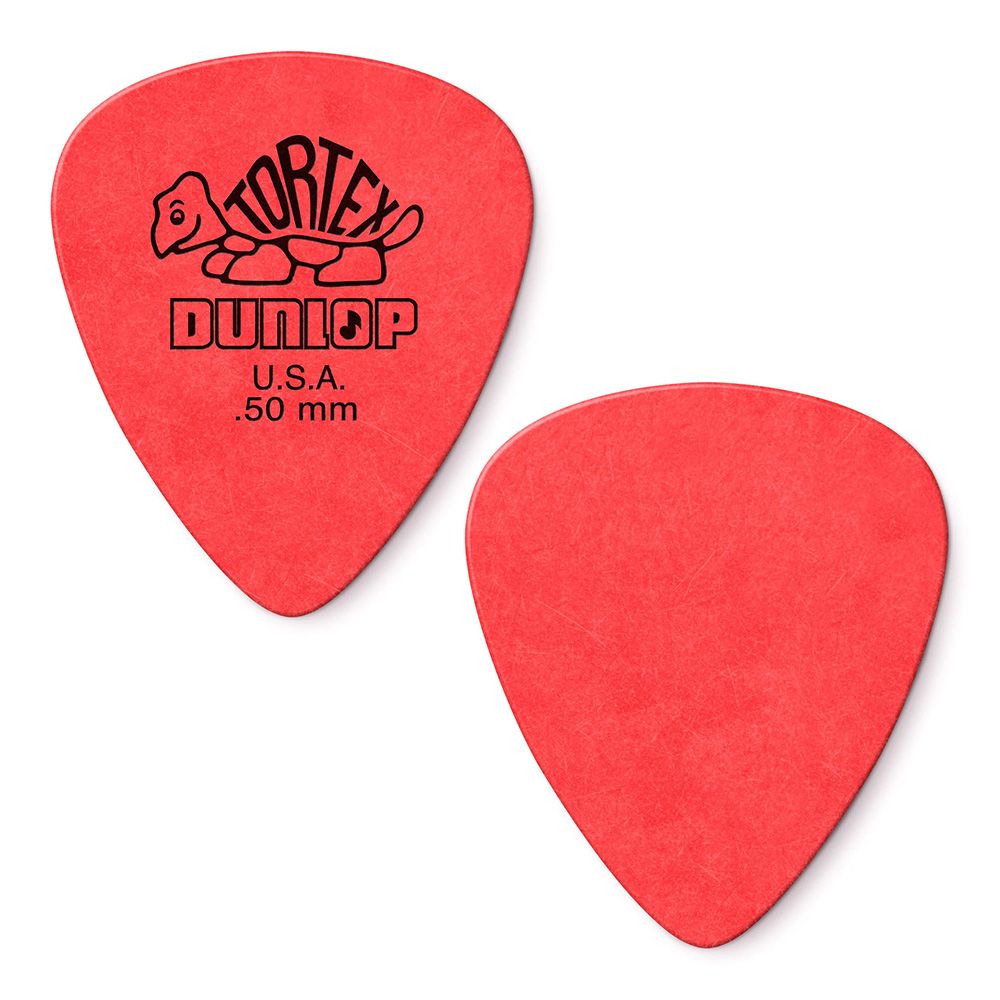 JIM DUNLOP 488P Tortex Pitch Std Black 0,50 Pack