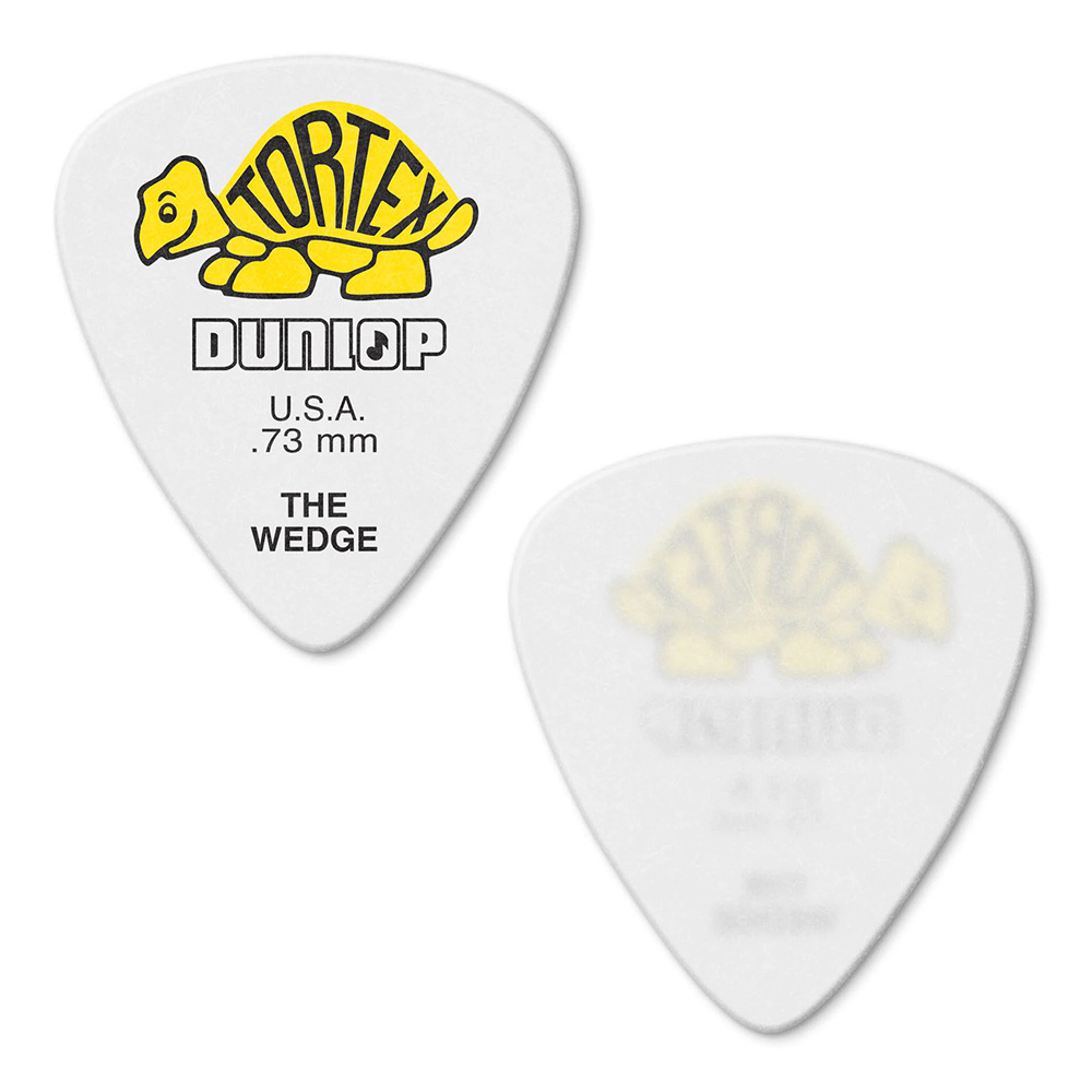 Jim Dunlop <br>424 Tortex Wedge 0.73mm - YELLOW 12枚セット