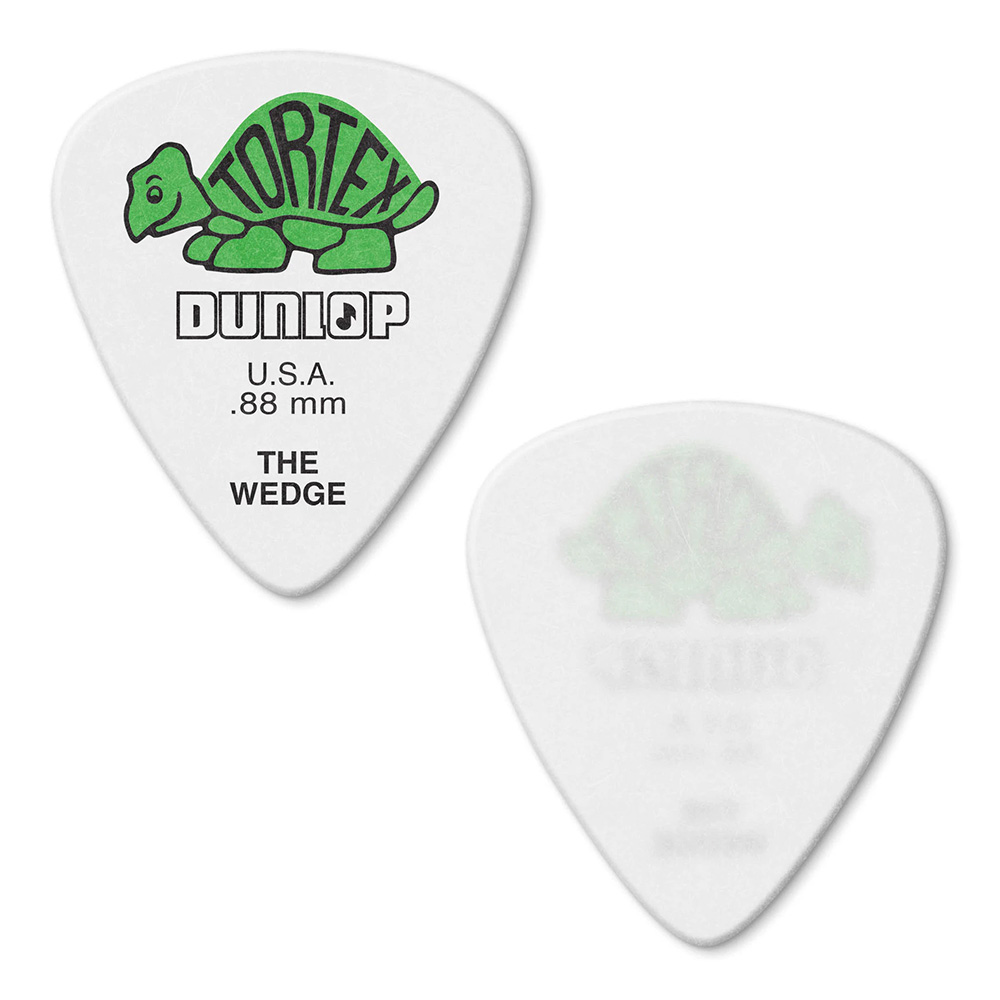 Jim Dunlop <br>424 Tortex Wedge 0.88mm - GREEN 12枚セット