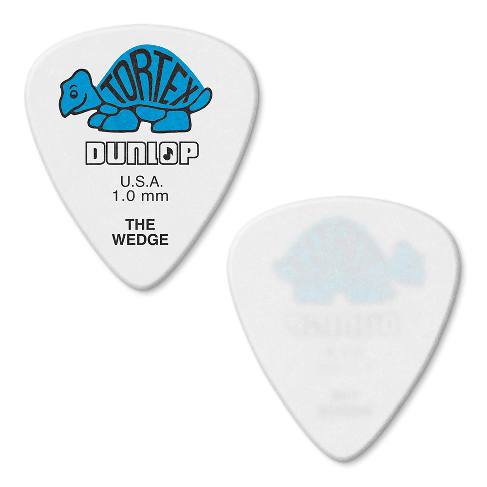 Jim Dunlop <br>424 Tortex Wedge 1.0mm - BLUE 12枚セット