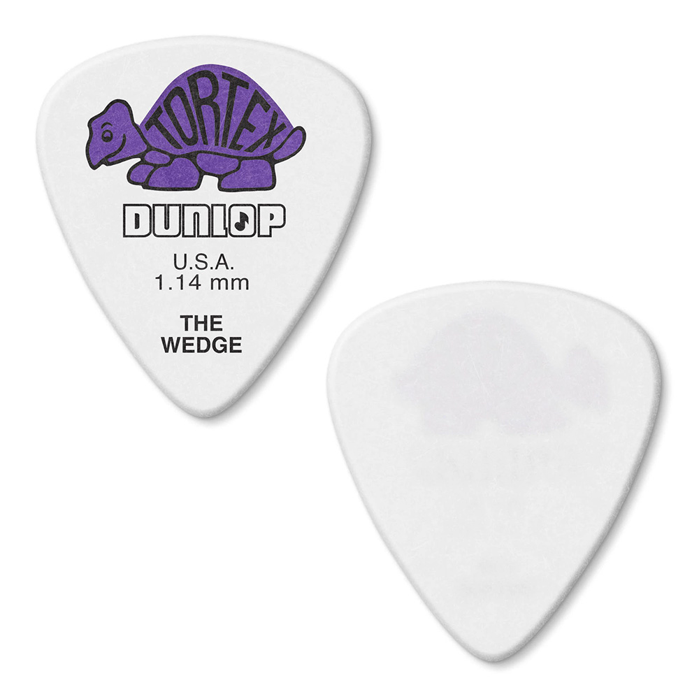 Jim Dunlop <br>424 Tortex Wedge 1.14mm - PURPLE 12枚セット