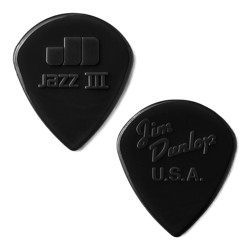 Jim Dunlop <br>47 Nylon Jazz III 1.38mm - BLACK 12枚セット