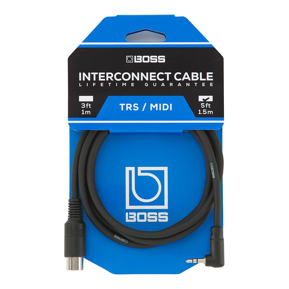 BOSS <br>BMIDI-5-35 TRS/MIDI connecting cable
