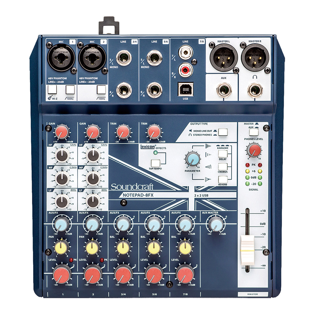Soundcraft <br>Notepad-8FX
