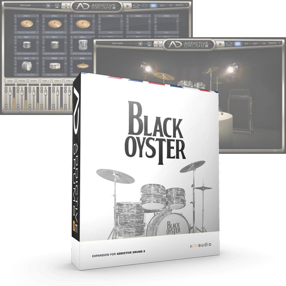 XLN Audio <br>Addictive Drums 2 ADpak Black Oyster 簡易パッケージ版