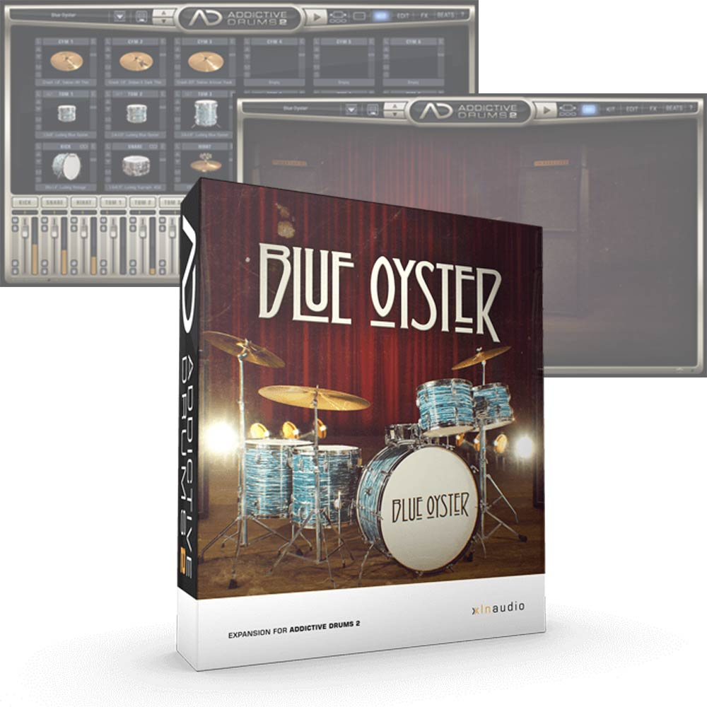 XLN Audio <br>Addictive Drums 2 ADpak Blue Oyster 簡易パッケージ版