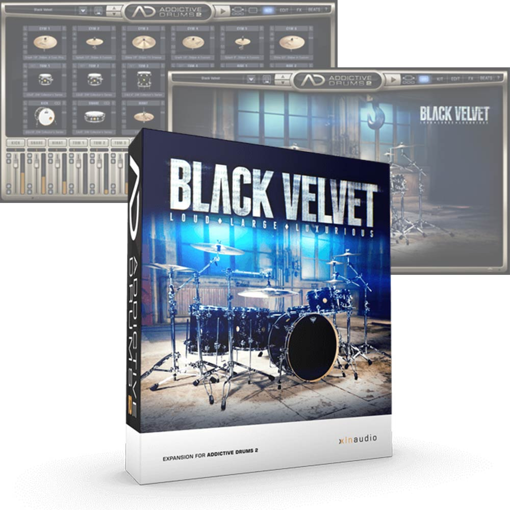 XLN Audio <br>Addictive Drums 2 ADpak Black Velvet 簡易パッケージ版