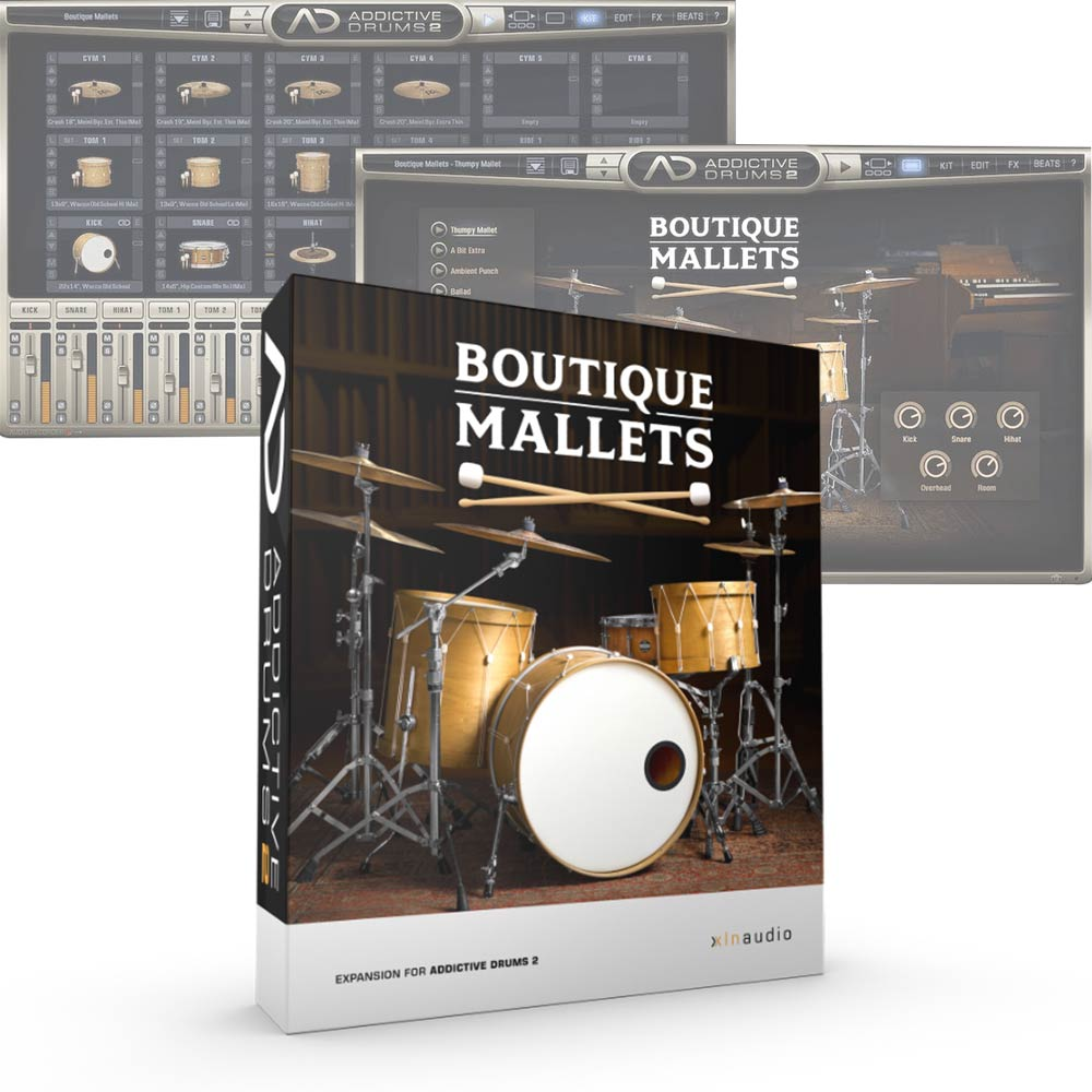 XLN Audio <br>Addictive Drums 2 ADpak Boutique Mallets 簡易パッケージ版