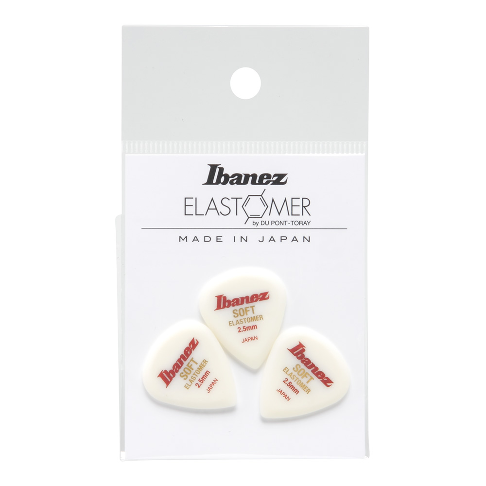 Ibanez <br>ELASTOMER Pick SOFT 2.5mm [BELJ1ST25]