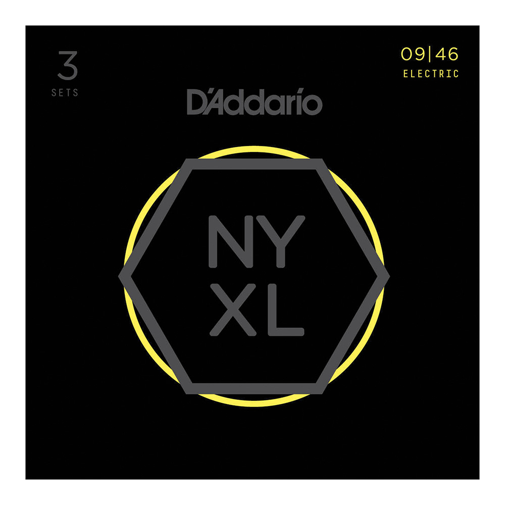 D'Addario <br>NYXL0946-3P NYXL Multi-Packs Super Lt. Top/Reg Bottom 09-46 3set