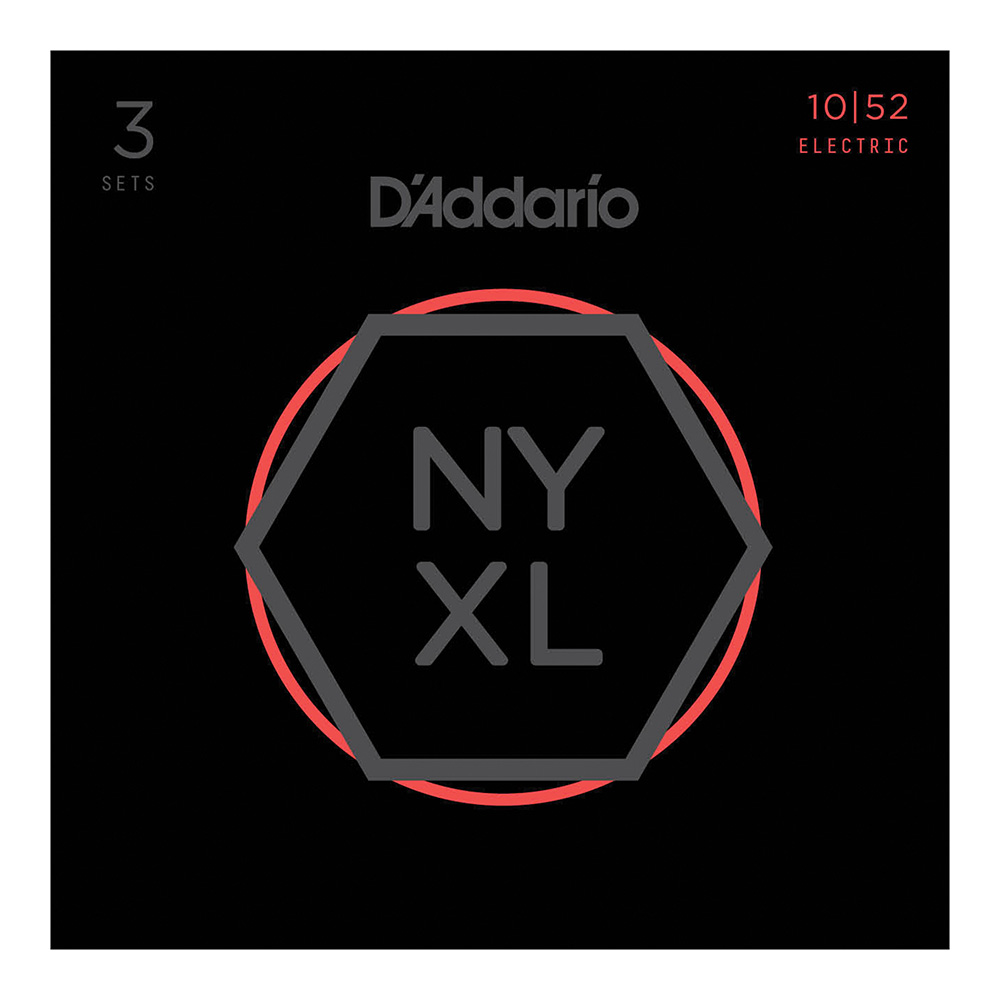 D'Addario <br>NYXL1052-3P NYXL Multi-Packs Light Top/Heavy Bottom 10-52 3set
