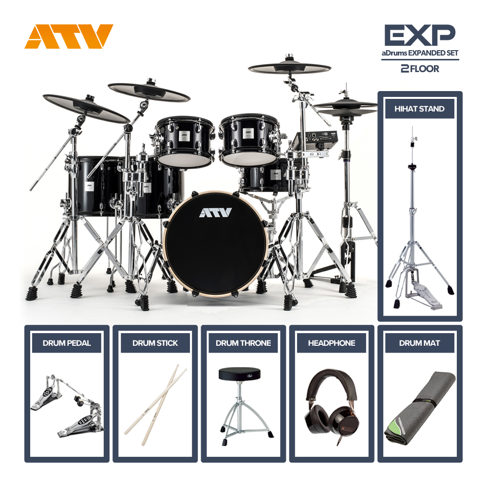 ATV <br>aDrums artist EXPANDED SET 2Floor [ADA-EXPSET] ツインフルオプションセット
