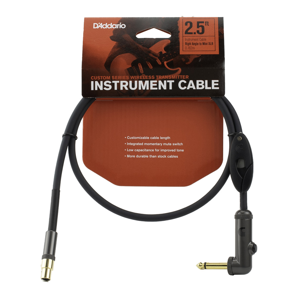 D'Addario <br>Wireless Transmitter Instrument Cables PW-WGRA-02