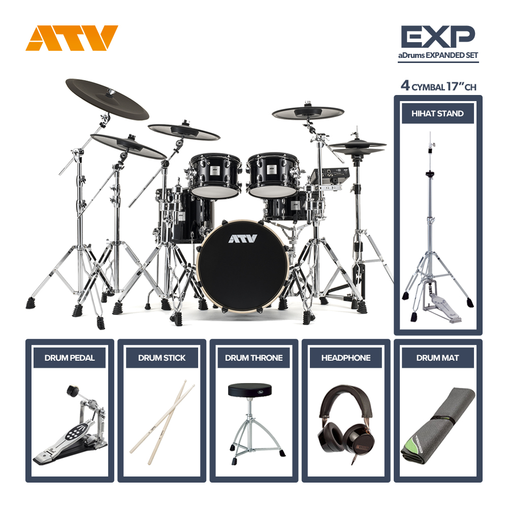 ATV <br>aDrums artist EXPANDED SET [ADA-EXPSET] 4Cymbal シングルフルオプションセット