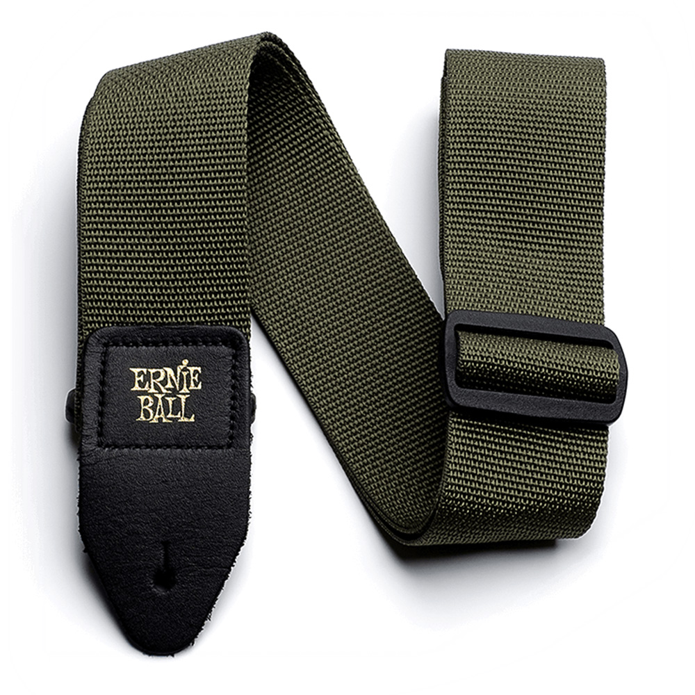 ERNIE BALL <br>#4048 OLIVE POLYPRO GUITAR STRAP
