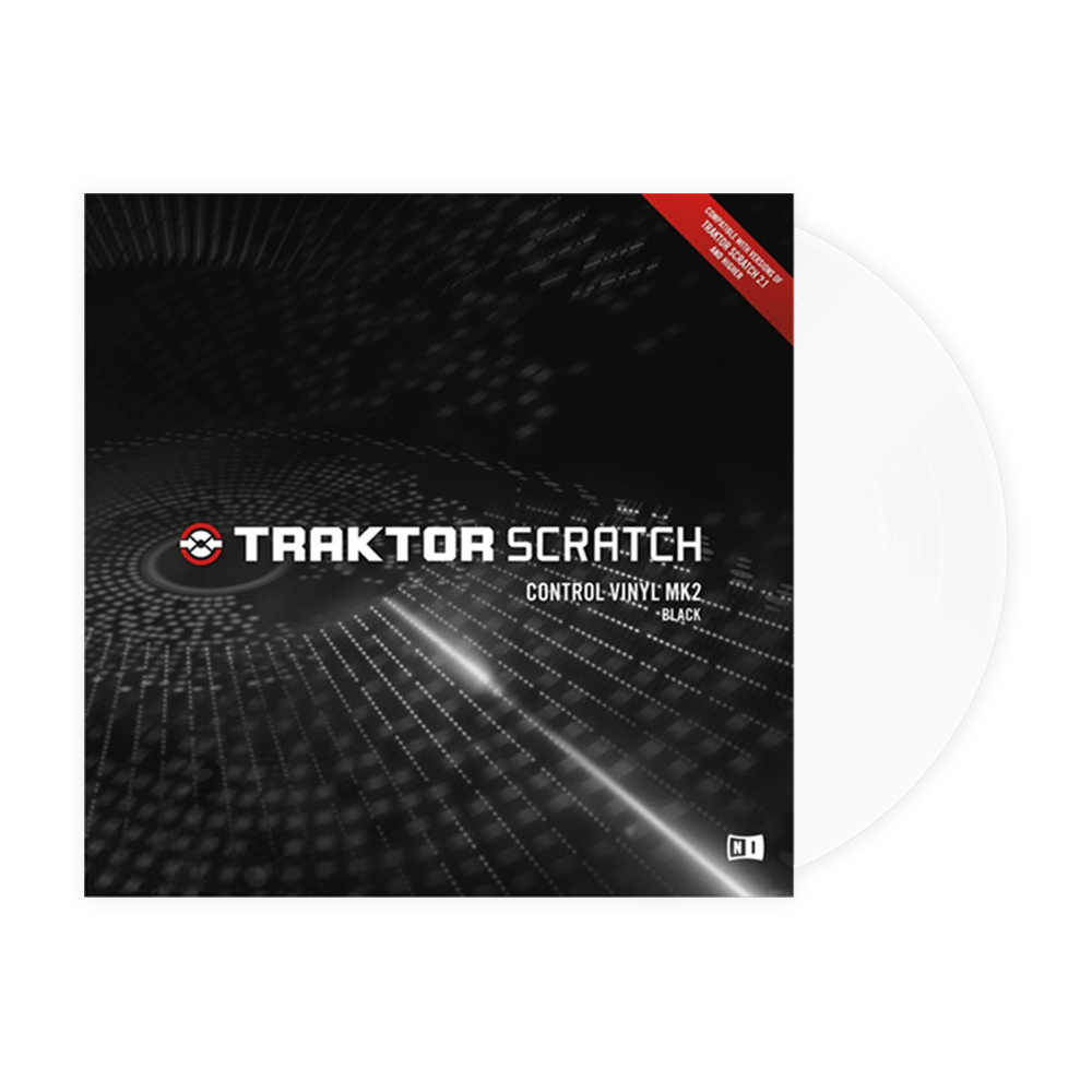 Native Instruments <br>TRAKTOR SCRATCH Control Vinyl MK2 White