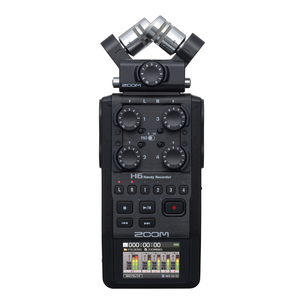 ZOOM <br>H6/BLK Handy Recorder