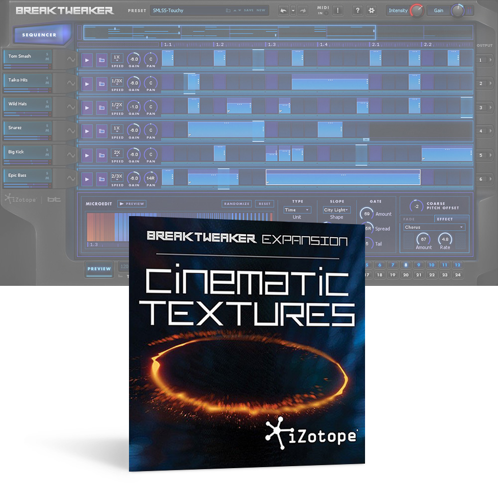 iZotope <br>BreakTweaker Expansion: Cinematic Textures ダウンロード版