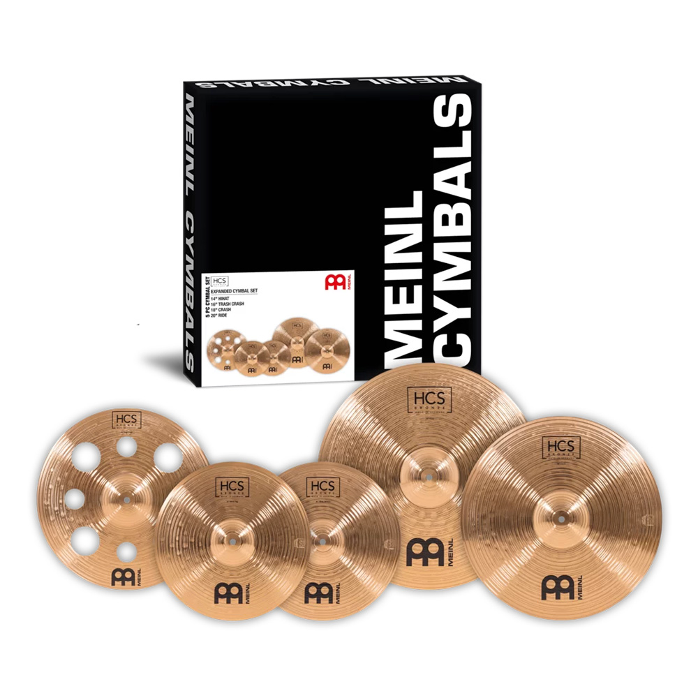 MEINL <br>HCS Bronze Expanded Cymbal Set [HCSB14161820]