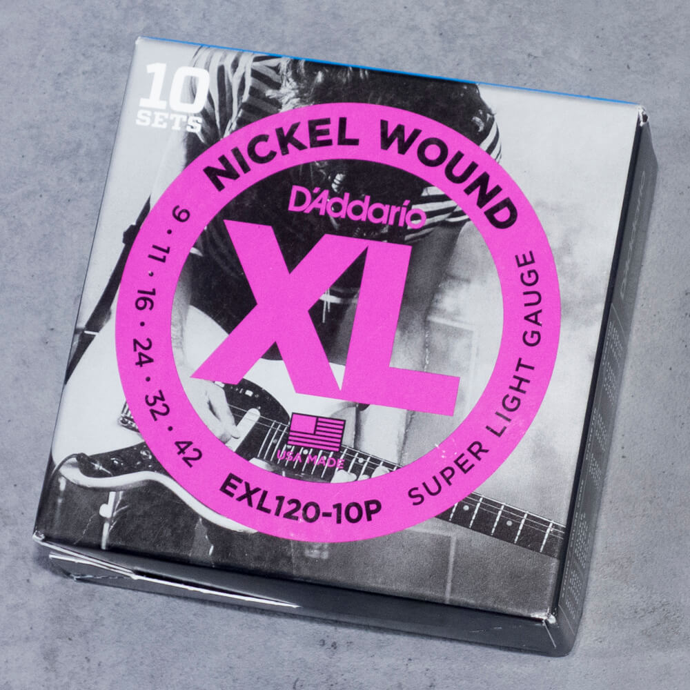 D'Addario <br>EXL120-10P XL Nickel Round Wound Multi-Packs Super Light 09-42 10set
