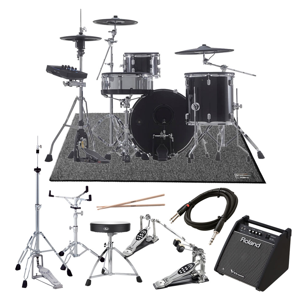 Roland <br>V-Drums Acoustic Design Series VAD503 + KD-200-MS ツインフルオプションPM-100スピーカーセット