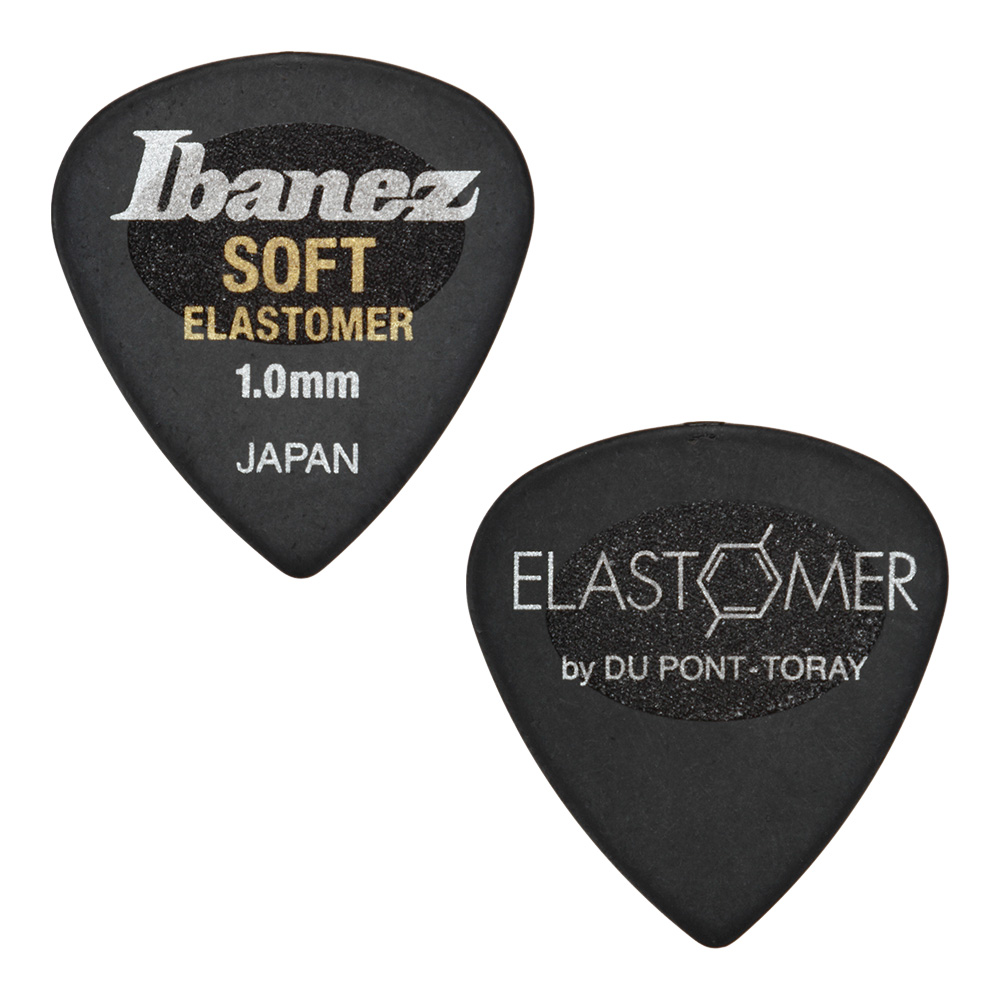 Ibanez <br>ELASTOMER Pick SOFT 1.0mm [EL16ST10S-HBK] 50枚セット