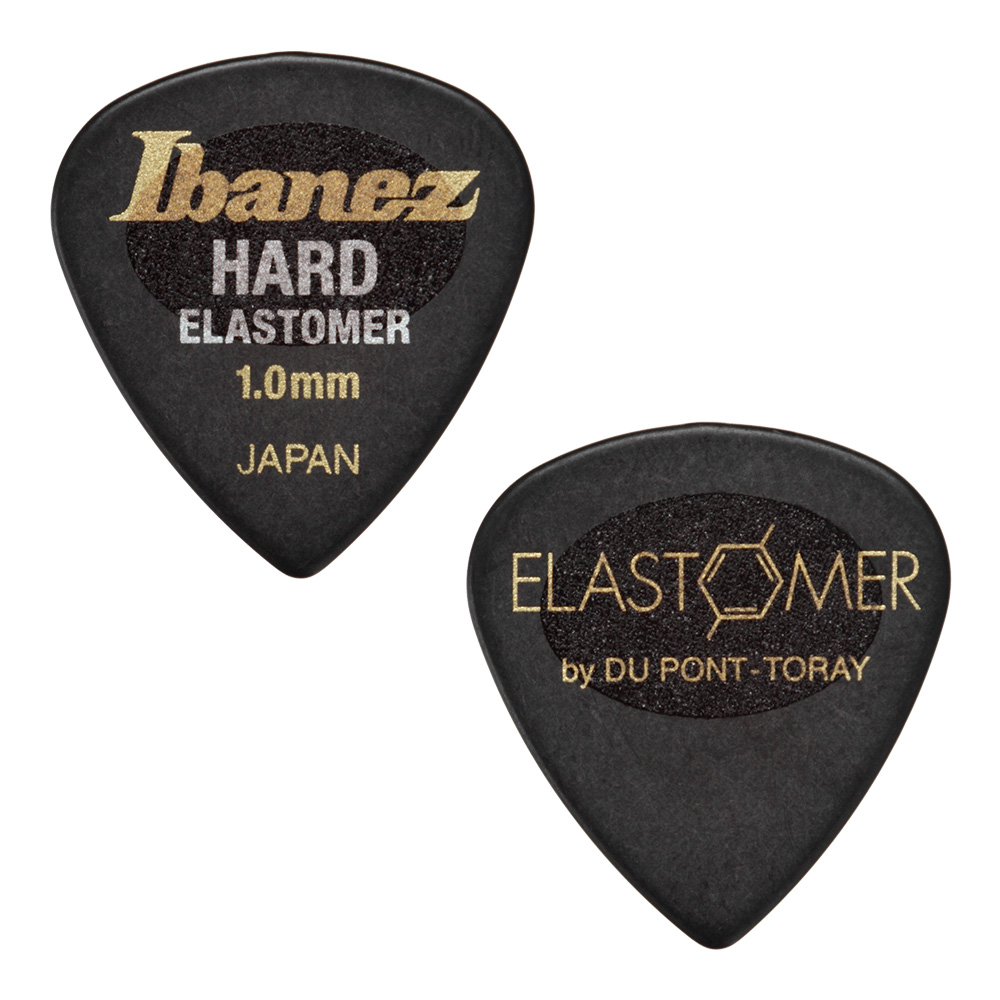 Ibanez <br>ELASTOMER Pick HARD 1.0mm [EL16HD10S-HBK] 50枚セット