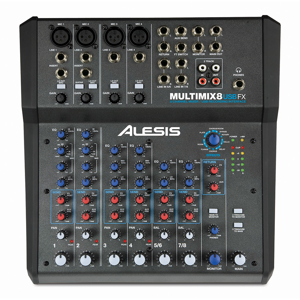 ALESIS <br>MultiMix 8 USB FX