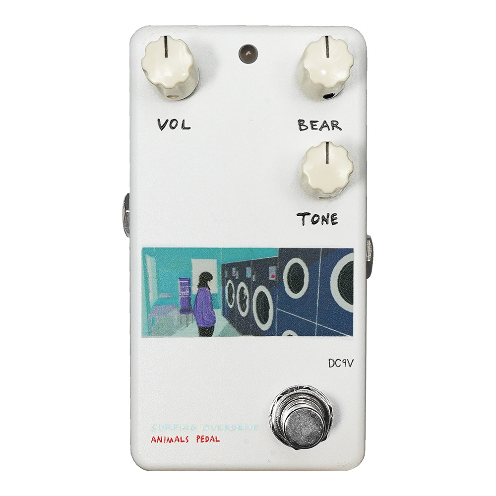 "ANIMALS PEDAL <br>Custom Illustrated Surfing Bear Overdrive by 文 ""Laundry"""