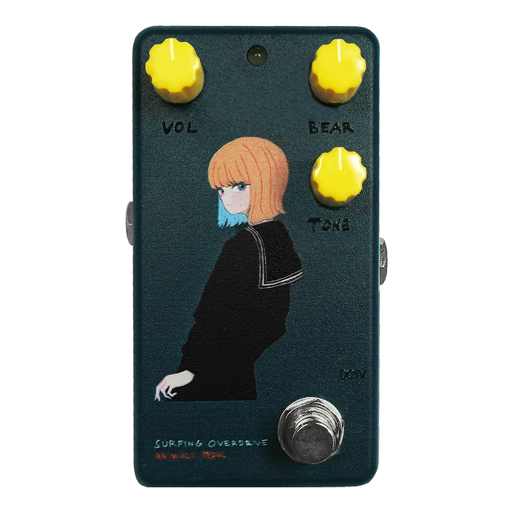 "ANIMALS PEDAL <br>Custom Illustrated Surfing Bear Overdrive by 文 ""黒セーラー"" Navy"