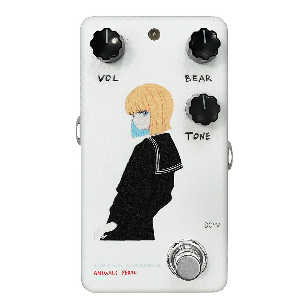 "ANIMALS PEDAL <br>Custom Illustrated Surfing Bear Overdrive by 文 ""黒セーラー"" White"