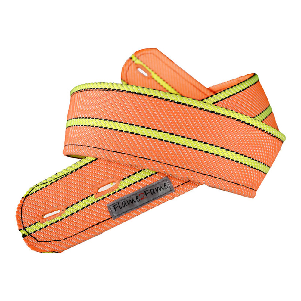 Flame2Fame <br>Orange Neon Double Strap