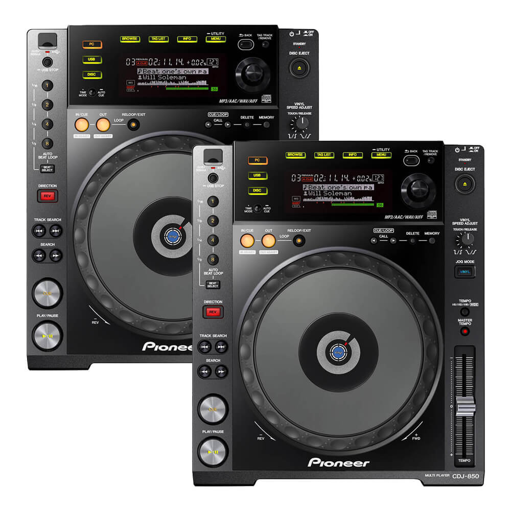 Pioneer DJ <br>CDJ-850-K Twin set