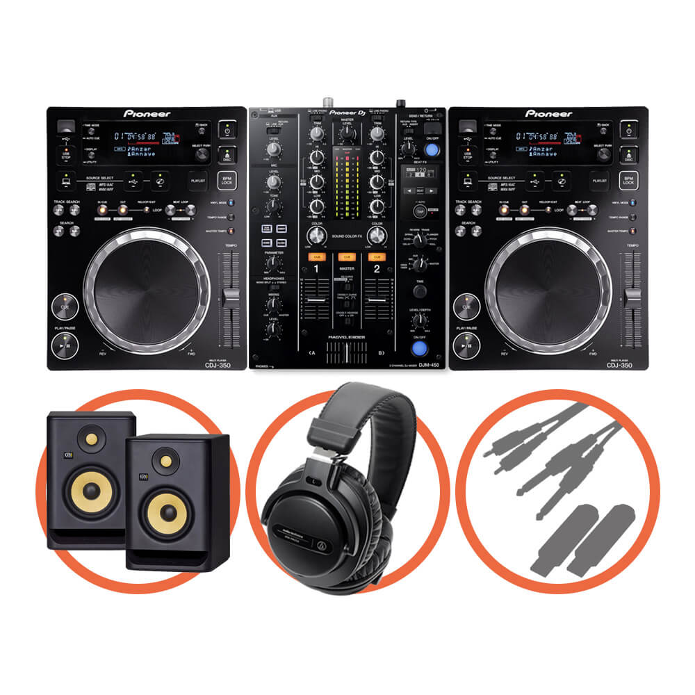 Pioneer DJ <br>CDJ-350 Beat FX Plus set